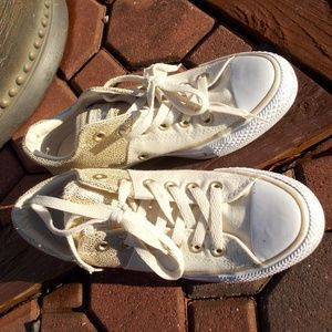 Converse Shoes - Converse All Star Gold Accent Sneakers Size 7